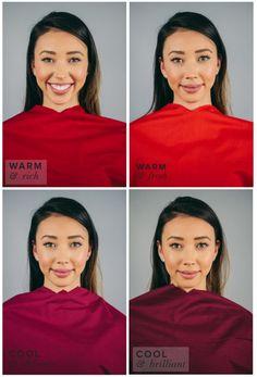 Best Red for Warm Skin, Dark Hair & Eyes