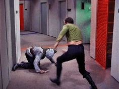 Captain Kirk's guide to fighting (gifs)