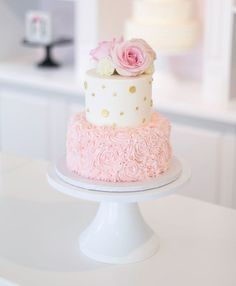 Wedding & Special Event Cakes, Desserts & More! 30th Birthday Cake For Women, Birthday Cake For Women Elegant, Pink Birthday Cakes, Elegant Birthday Cakes, Girl Baby Shower Decorations, Baby Shower Cake For Girls, Bolo Cake, Baby Girl Cakes, Gateaux Cake