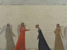 Les Ursulines - Jean Paul Lemieux.. i did this in art class as a ...