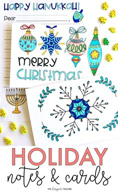 Keep students engaged up until winter break with this no-prep writing and coloring activity. Students can choose from holiday, Christmas, Hanukkah, or Kwanzaa cards or letters to practice writing a friendly letter. #teaching #holidays
