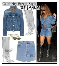 """Rihanna"" by swweetalexutza on Polyvore featuring Balenciaga, Christian Dior, Rihanna and CelebrityStyle"