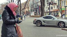 As in most of Ukraine, Odessa's Deribasivskaya street is full of contrasts.