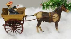 Lot # : 1139 - LADY IN HORSE DRAWN CART DRESDEN