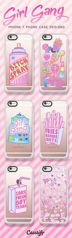 ♥Casetify iPhone 7 Case and Other iPhone Covers - Girl Gang collection by #JadeBoylan ♥ #Casetify