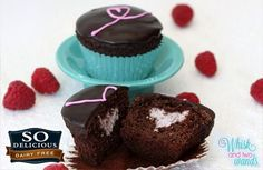 Sweetheart Chocolate Cupcakes with Raspberry Coconut Filling via @SparkPeople