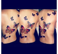Butterfly back tattoo. Luv this. #tattoo #inkedgirls
