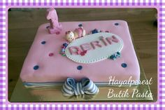 Firsth#birthday#cake#pink#purple
