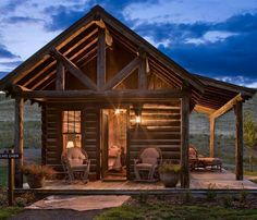 The small log cabin designs featured here are ideal for getaways and retreats. Small Log Cabin, Tiny Cabins, Lake Cabins, Log Cabin Homes, Cabins And Cottages, Rustic Cabins, Barn Homes, Cozy Cabin, Log Cabin Floor Plans