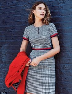 Dress like a duchess! Boden unveiled a tweed dress (pictured) that is similar to the Gucci piece worn by Kate, at London's V&A museum last year Classy Dress, Classy Outfits, Day Dresses, Dresses For Work, A Line Dress Work, Minimalist Outfit, Gucci Dress, Tweed Dress, Business Dresses
