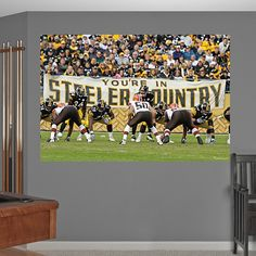 Steelers-Browns REAL.BIG. Fathead – Peel & Stick Wall Graphic | Pittsburgh Steelers Wall Decal | Sports Home Décor | Football Bedroom/Man Cave/Nursery