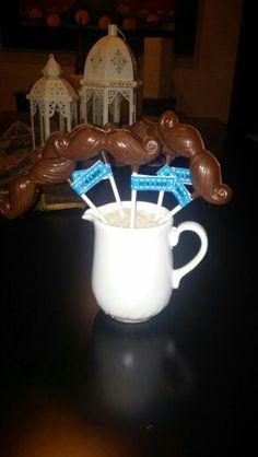 Chupetes de chocolate