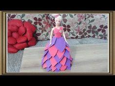 Bonecas estilo princesa e dançarina havaiana decoradas com vestido de E.V.A - YouTube