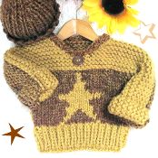 Star Toddler Pullover and Watch Cap - via @Craftsy
