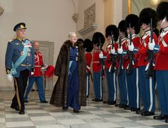 Queen Margrethe and Prince Henrik attend the New Year's Court 1/7/2015
