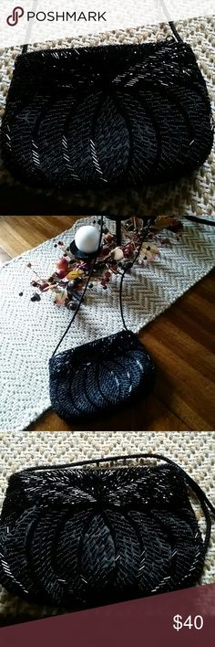 Small sequined vintage formal bag  EUC very old and beautiful!!!! ❤ Reasonable offers accepted! Bags Mini Bags
