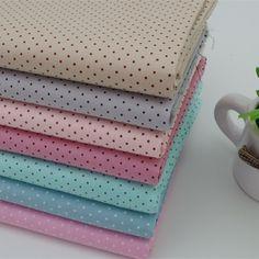 40x50cm 7 colores mini polka dot 100% edredones/cobijas de algodón tela patchwork trimestre grasa textiles