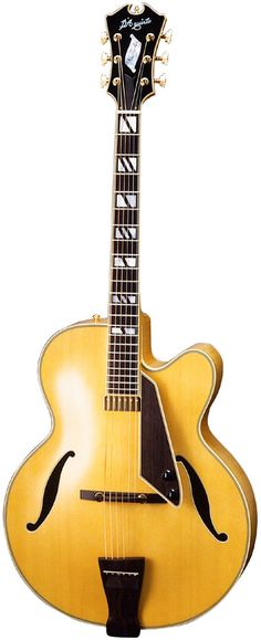 D`Aquisto New Yorker - Jimmy D'Aquisto, a protege of John D'Angelico, made guitars similar to those of his mentor, but he often did things with a certain personal touch. This guitar's f holes even have a different design.