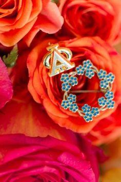 sorority pin for wedding bridal accessories from Virginia Wedding Salamander Resort by Katelyn James Photography