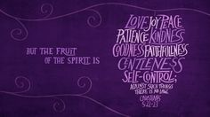 The fruit of the Spirit is the result of the work of the Spirit in our lives. Allow Him to do what He does.