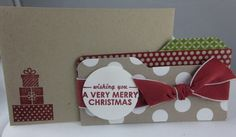 """Stampin' Up! Envelope Punch Board File Folder Giftcardholder Tutorial and How to Tie a """"Knot Bow""""!"""