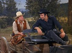 """Bonanza"" - Hoss and Adam Cartwright (Dan Blocker and Pernell Roberts)"
