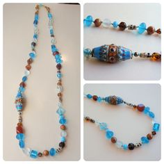 Necklace for BSBP7 by Ana Cravidao, using  lampwork bead handmade by Evelyn Duberry.