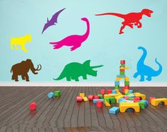 Dinosaurs Childrens Kids Mixed Wall ART Stickers Various Colour Options   eBay