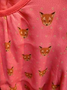 Cute fox head ditsy print on girls and babywear at I Love Gorgeous for fall 2014 kidswear