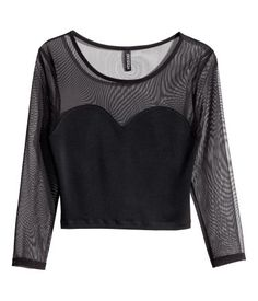 H&M Short mesh top 59 AED