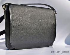 Men's Black City Bag, messeneger bag designed by Christian Leather. Iwc, Watch Model, City Bag, Seiko, Leather Backpack, Hand Sewing, Christian, Backpacks, Bags
