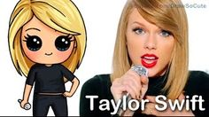 How to Draw Chibi Taylor Swift Cute step by step Shake It Off Music Video Kawaii Girl Drawings, Cute Disney Drawings, Cute Girl Drawing, Cartoon Drawings, Cartoon Illustrations, Draw So Cute People, Cute Drawings Of People, Amazing Drawings, Beautiful Drawings