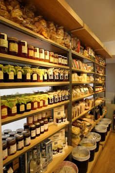 Interior design for a shop  with organic and natural products.