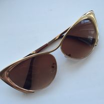 - New Arrival* -Inspired Gold stainless steel sunglasses.  -  Brown gradient. -Good quality.