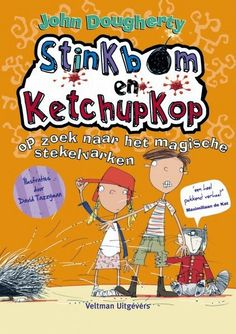 """Stinkbom en Ketchupkop op zoek naar het magische stekelvarken - John Dougherty. Als de dassen monopoloe spelen, krijgen ze de kaart """"Verlaat de gevangenis zonder betalen"""". Nu moeten stinkbom en Ketchupkop weer aan de slag om de dassen achter slot en grendel te krijgen."""