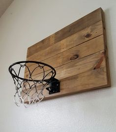 Reclaimed Wood Basketball Hoop. Wall Mounted by BlueFoxFurnishings