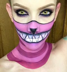 My sisters take on the Cheshire Cat for Halloween. - Imgur