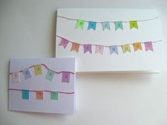 Washi Tape Thank You Cards and Birthday Cards
