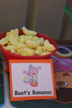 Ideas party food childrens fun for 2019 Third Birthday, 4th Birthday Parties, Birthday Bash, Birthday Ideas, Dora And Friends, Bananas, Dora The Explorer, Party Time, Go Diego Go