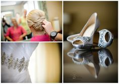 greenville sc wedding photographer hyatt weddings, bride getting ready, wedding day shoes, silver weddings shoes, gray shoes, shoes with jewels, wedding gown with beaded belt, wedding day hairstyle up do