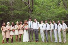 Bridal party donned in their vintage attire