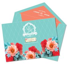 Coral & Turquoise Color theme