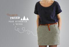 jupe modèle 4C du Burda couture facile A/H 2012