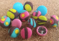 Check out this item in my Etsy shop https://www.etsy.com/listing/398069987/thumbtack-set-14-pc-push-pin-set