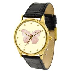 Butterfly Watch Beige 1 by SandMwatch on Etsy