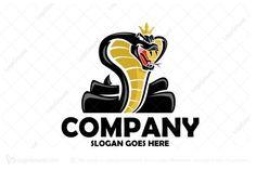 Logo for sale: King Cobra Logo by Star Seven Vector, uploaded on King Cobra mascot logo strong and marketable animal logo, will bring your business the recognition it really deserves Black Mamba Snake, King Cobra Snake, Cobra Tattoo, Industry Logo, Cartoon Logo, Company Slogans, Letter V, Media Logo, Animal Logo