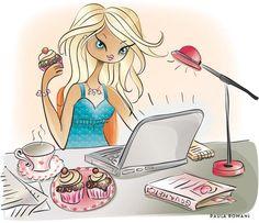 Illustration for I Shop Jane store. Corporative image. Illustration for Organize Magazine – USA For this magazine Paul illustrated the humor...