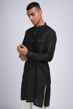 Indian Groom, Designer Wear, Fathers, High Neck Dress, How To Wear, Collection, Shopping, Black, Dresses