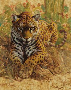 Ezra Tucker, American Tiger, acrylic, 20 x 16. #southwestart #seegreatart #artofthewest #westernart #ilovethiswork #contemporaryart  #contemporaryartist #greatart #collectart #artcollector #artlover #buyart #art #artist #wildlifewednesday