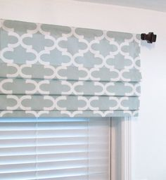 faux hobbled roman shades on decorative rod - Google Search